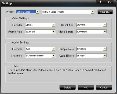 Total Video Converter Setting