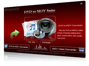 DVD to MOV Suite Screen