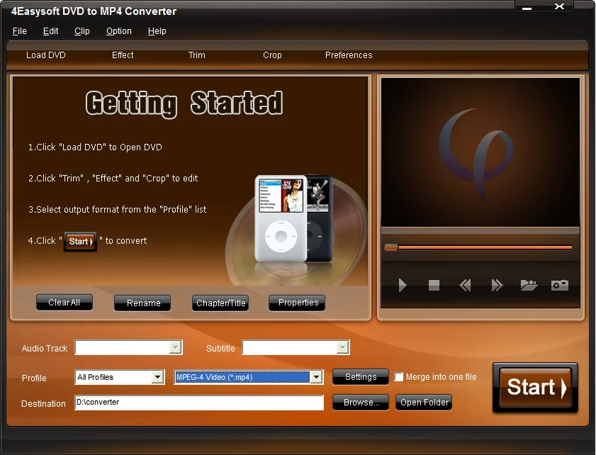 Click to view 4Easysoft DVD to MP4 Converter screenshots